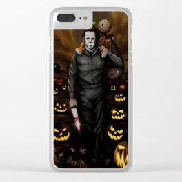 Halloween Bros. Clear iPhone Case