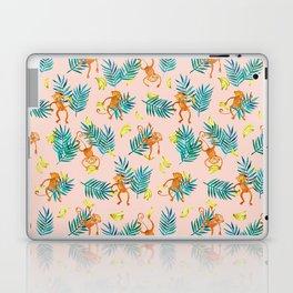 Tropical Monkey Banana Bonanza on Blush Pink Laptop & iPad Skin