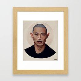 Elf Portrait Framed Art Print