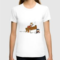 calvin hobbes T-shirts featuring Calvin & Hobbes Winter by rarcomeus