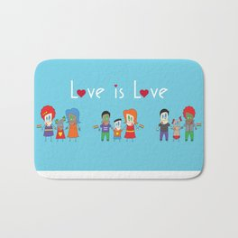 Love is Love Blue - We Are All Equal Bath Mat