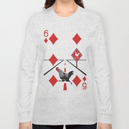 Clipped Wings Deck: The Six of Diamonds Long Sleeve T-shirt