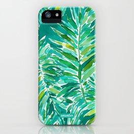 WILD JUNGLE Green Tropical Palm iPhone Case