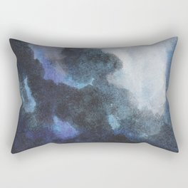 Night Clouds: a pretty, minimal, mixed media piece in shades of blues Rectangular Pillow