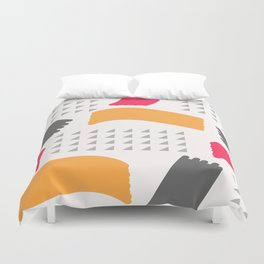 Modern triangles and happy colors Duvet Cover
