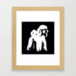 PET POODLE DOG Framed Art Print