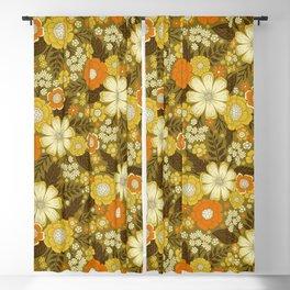 1970s Retro/Vintage Floral Pattern Blackout Curtain