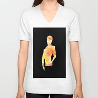 the legend of korra V-neck T-shirts featuring Legend of Korra - Mako Spirit by lalazaro