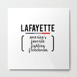lafayette white Metal Print