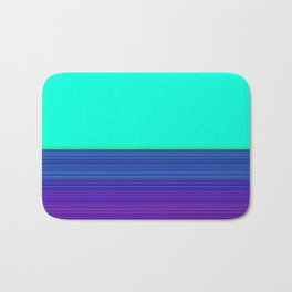 Re-Created Color Field and Stripes 9 by Robert S. Lee Bath Mat