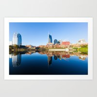 nashville Art Prints featuring Nashville by GF Fine Art Photography