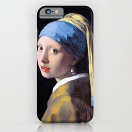 Girl with a Pearl Earring by Johannes Vermeer (c. 1665) iPhone Case
