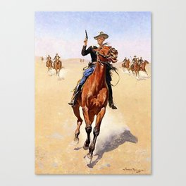 """""""The Trooper"""" Western Art by Frederick Remington Canvas Print"""