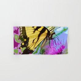 Yellow butterfly beauty 2 Hand & Bath Towel