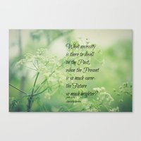 jane eyre Canvas Prints featuring Present and Future Jane Eyre Quote by KimberosePhotography