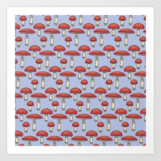 Mushroom Print Art Print