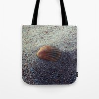 seashell Tote Bags featuring Seashell by WonderfulDreamPicture