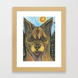 Junkyard Dog Framed Art Print