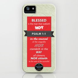 Psalm 1:1 iPhone Case