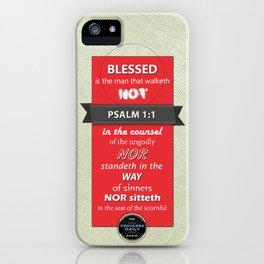 Psalm 1:1 iPhone Case