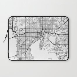 Tampa Map White Laptop Sleeve