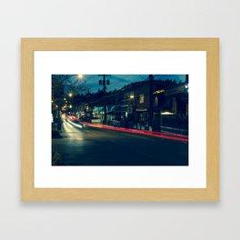 Marine Drive Light Streaks Framed Art Print