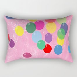 Balloons in a Cotton Candy Sky Rectangular Pillow