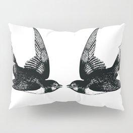 Double Swallow Illustration Pillow Sham