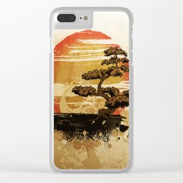 Bonsai Tree In The Sunset Clear iPhone Case