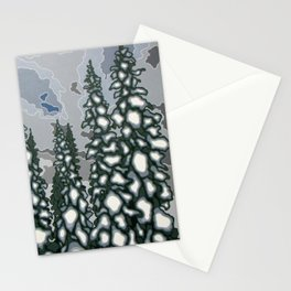 A Blue and Grey Day in Winter Stationery Cards