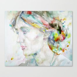 VIRGINIA WOOLF - watercolor portrait Canvas Print