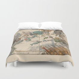 Ignace-Gaston Pardies - Globi coelestis Plate 6: Centaurus, Indus, Chamaeleon and other constellatio Duvet Cover