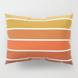 70s Stripes - 70s, retro, retro stripes, ombre, rust, orange, brown,  yellow Pillow Sham