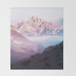 Forest Sunrise Throw Blanket