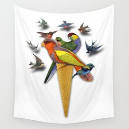 BIRDS ICE CREAM Wall Tapestry