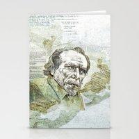 bukowski Stationery Cards featuring Charles Bukowski by Nina Palumbo Illustration