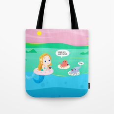 mermaid talk Tote Bag