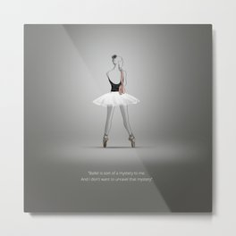 Ballerina with shoes Metal Print