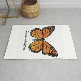Monarch Butterfly Specimen Rug