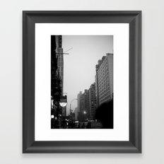 new york city in the rain  Framed Art Print