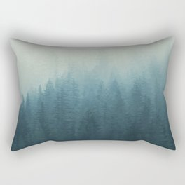 Into The Misty Nature - Turquoise II Rectangular Pillow