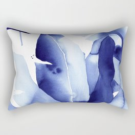 Royal Blue Palms no. 2 Rectangular Pillow
