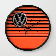 Red Volkswagen Wall Clock