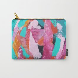 Summer Mixed Media Collage Carry-All Pouch