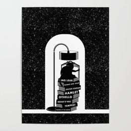 CAT READING SHAKESPEARE Poster