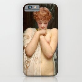 "Frederic Leighton ""Crenaia, the Nymph of the Dargle"" iPhone Case"