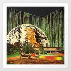 Earth house  Art Print