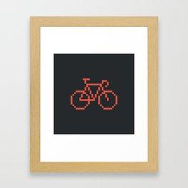 Pixelbike Framed Art Print