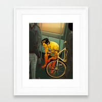 butterfly Framed Art Prints featuring The Ride (2009) by Matt Taylor