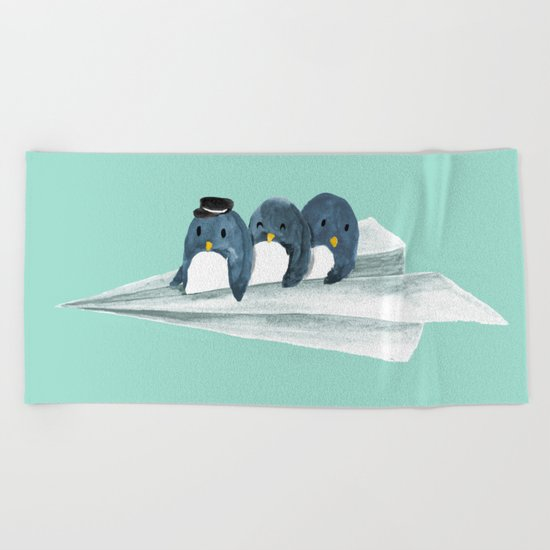 Let's travel the world Beach Towel